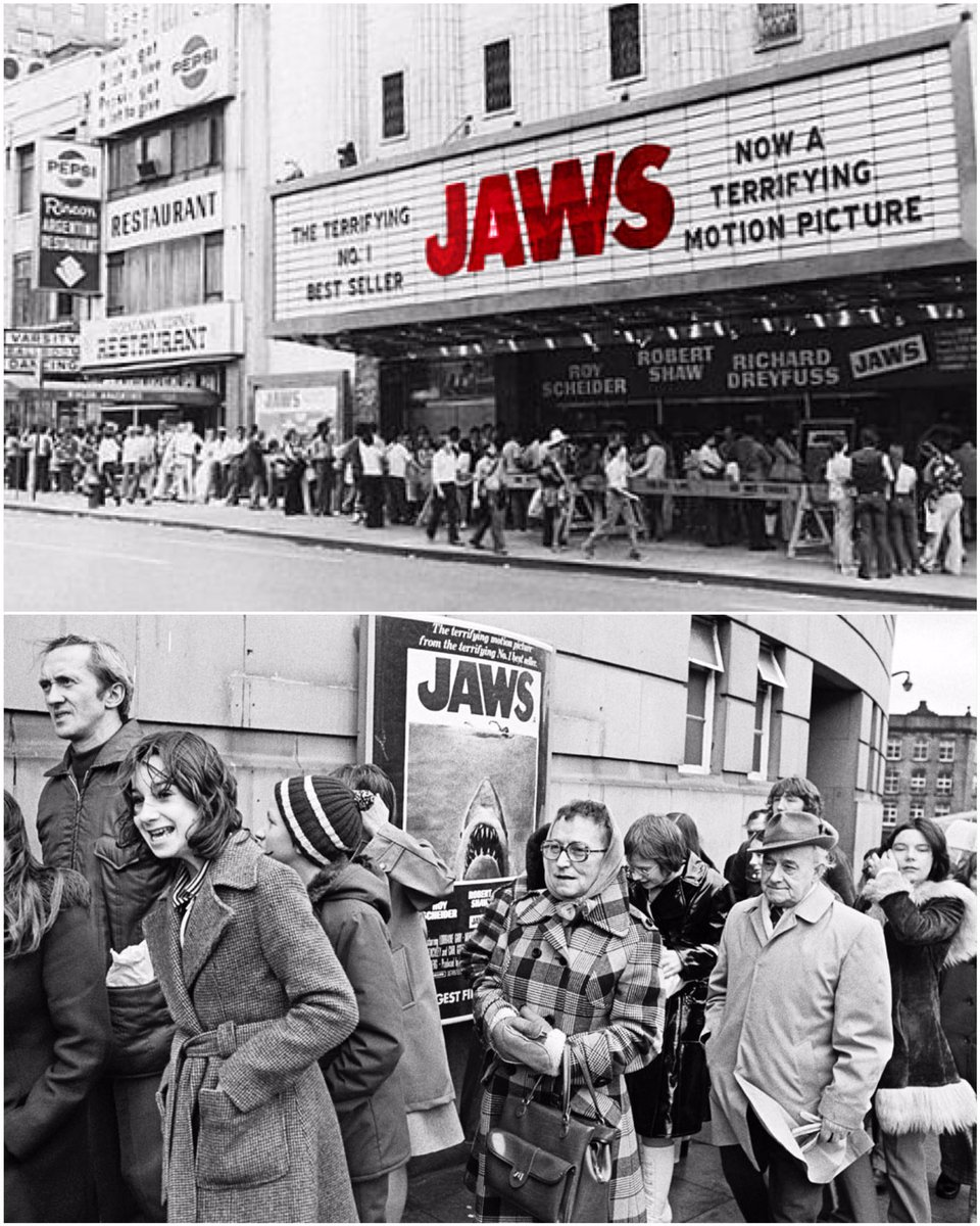 Who remembers queuing for #JAWS back in the summer of &#39;75?  #shark #sharks #film #movie #cinema #birthday #happybirthday<br>http://pic.twitter.com/n3IBCUYMVF