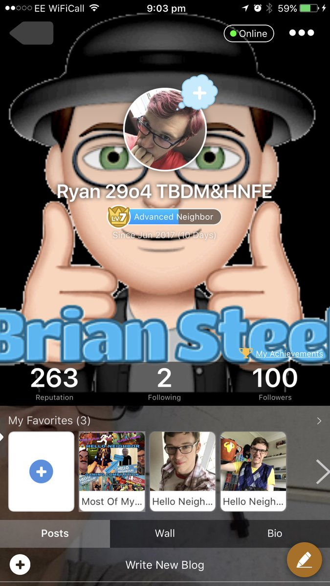 I finally made it to #100followers on my @AminoApps #HelloNeighbor page! I only be on here for 10 days!  http:// aminoapps.com/p/iv5vfml  &nbsp;  <br>http://pic.twitter.com/Cg1Zp3BtxH