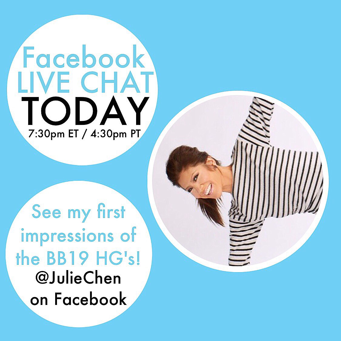 Join me today on FB! #BB19 https://t.co/aKOgEVQmlh