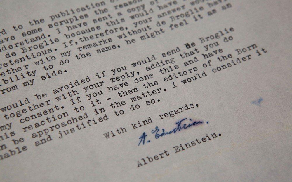 Cartas de Albert Einstein são leiloadas por mais de US$ 200 mil https://t.co/GRJjIC7Qy4 #G1