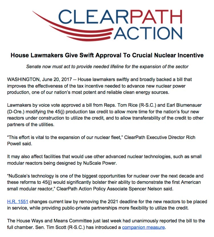 "rich powell on twitter: ""big deal for #nuclear. house quickly (and"