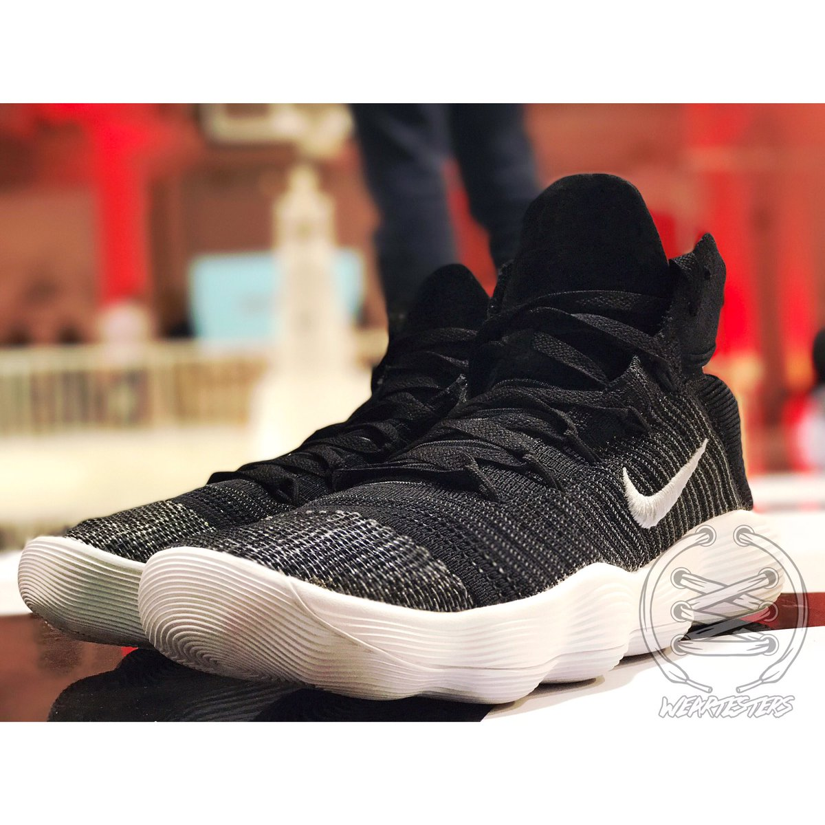 2fd03db06674 get weartesters on twitter close up look at the nike react hyperdunk 2017  flyknit terminal 23
