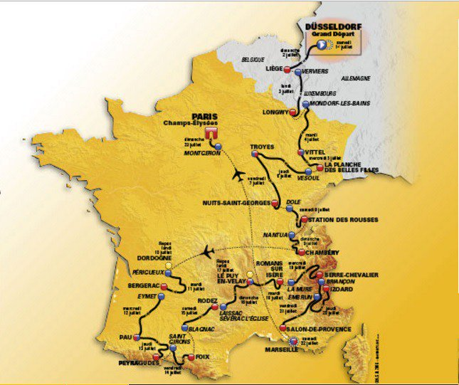 TOUR DE FRANCE 2017 Verviers (Belgio) Longwy (Francia): vedere Tappa 3 in Diretta Streaming Gratis Rai YouTube Facebook | CICLISMO