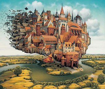 There are no rules of architecture for a castle in the clouds ~G.K. Chesterton #amwriting #writerslife J Yerka <br>http://pic.twitter.com/J55Zg7InM7