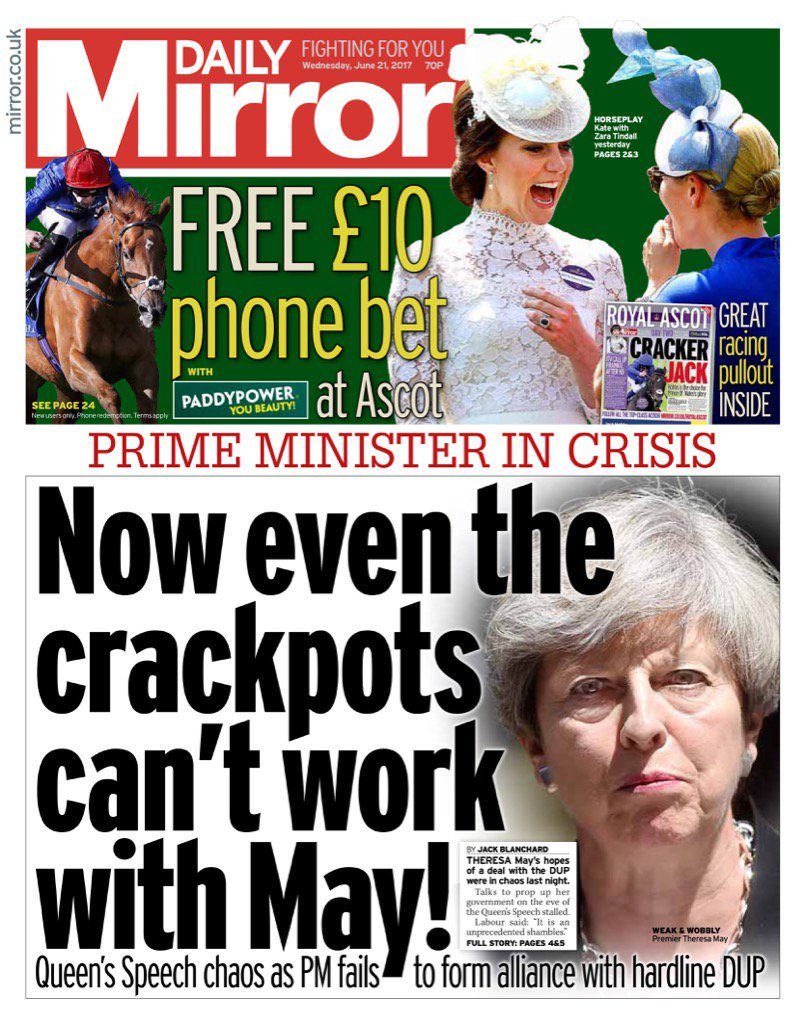 Hats off to the Daily Mirror