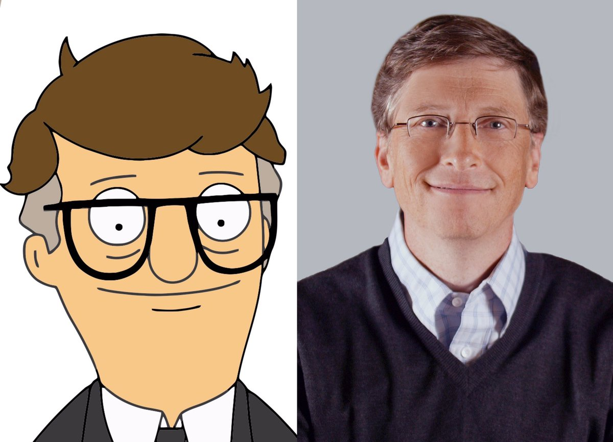 Not a massive fan of #BobsBurgers by any means but I&#39;ve always noticed this uncanny similarity between the two... #Mort #BillGates<br>http://pic.twitter.com/QuLkBH2MkW
