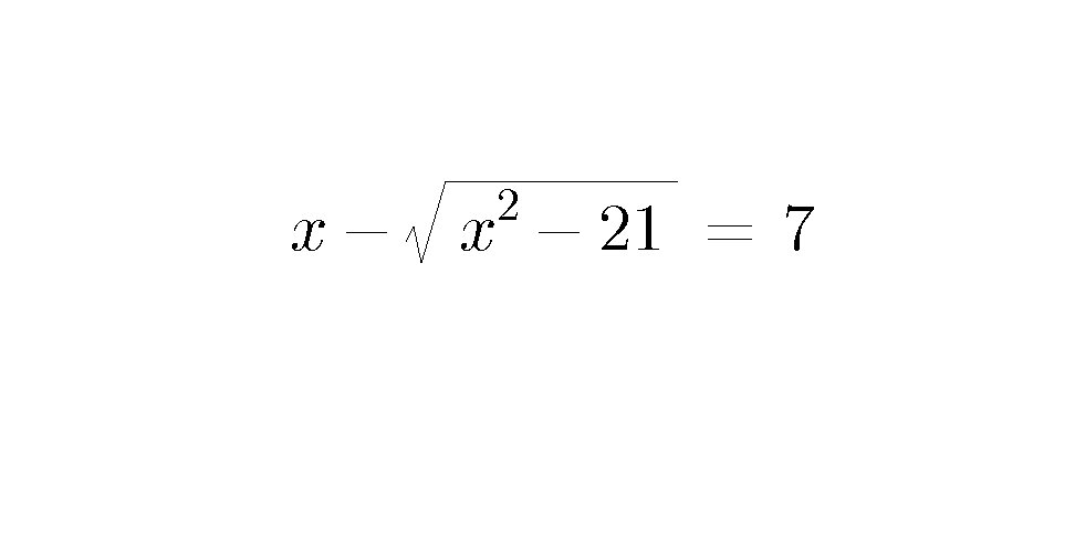 Interesting equation. Try it , the answer is not  x  = 5.  #mathchat  #maths #Mathematics<br>http://pic.twitter.com/VR22XpKlHg