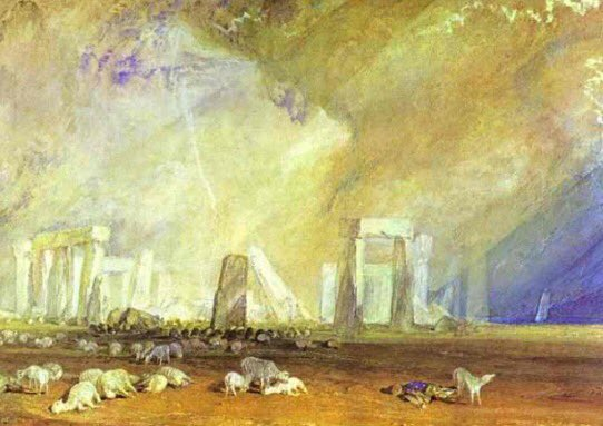 #Stonehenge,  J.M.W. #Turner, (1825-28) Happy #SummerSolstice! The sun stands still &amp; gives us the longest day &amp; the start of #summer.<br>http://pic.twitter.com/0OtM6CAX99