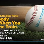 Don't miss the @Dodgers play against cross-town opponents, the @Angels at #DodgerStadium.  #takethetrain https://t.co/2ZBoqWVBc0