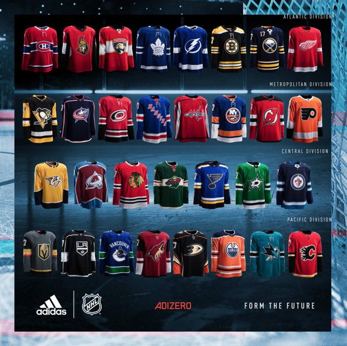 competitive price 941d3 96c56 Nhl unveils new adidas uniforms, including first-ever las ...