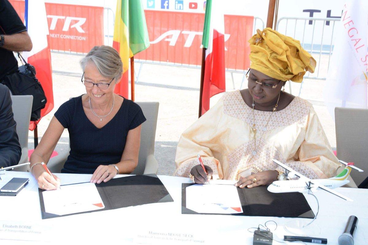 2 ATR jets ordered by Senegal. @Macky_Sall @PseSenegal @MTTASN @aeroportdiass @ambassenfrance #kebetu #pse #brandnew #aircraftcarrier<br>http://pic.twitter.com/0hW8m73iJw