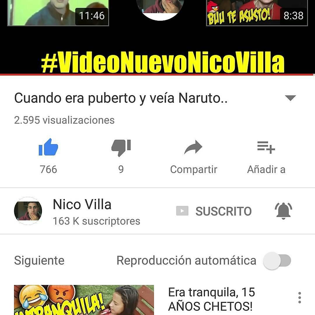 "Video Nuevoo!❤🎉 Vayan a Verlo, ""La Chocolatada me Hizo Pelota""😂 Link: https://youtu.be/1XOLSvmdpCE @Esnicovilla @TeamNicoVilla"