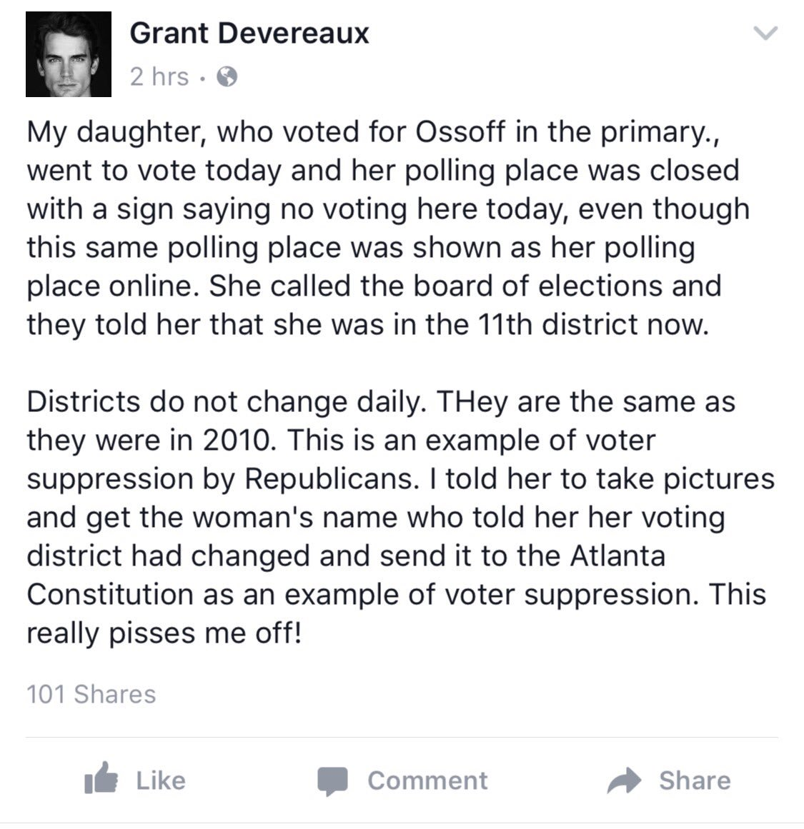 Is there voter fraud in the #GA06 election? Check out this on Facebook today @JoyAnnReid @maddow @ossoff https://t.co/p3g8cR7xVg