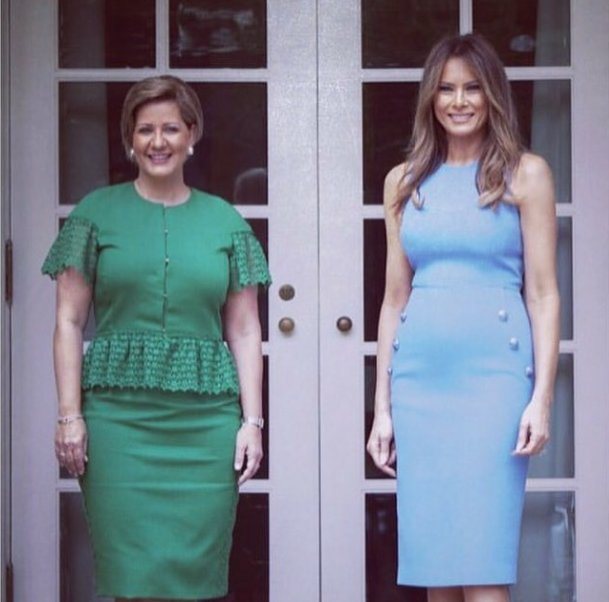 Melania Trump Wears Michael Kors for Meeting with Panamanian President and First Lady: https://t.co/6xDoY4Cdal