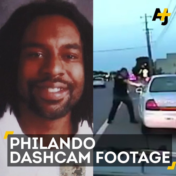 Dashcam footage was just released of #PhilandoCastile's fatal shooting by police.