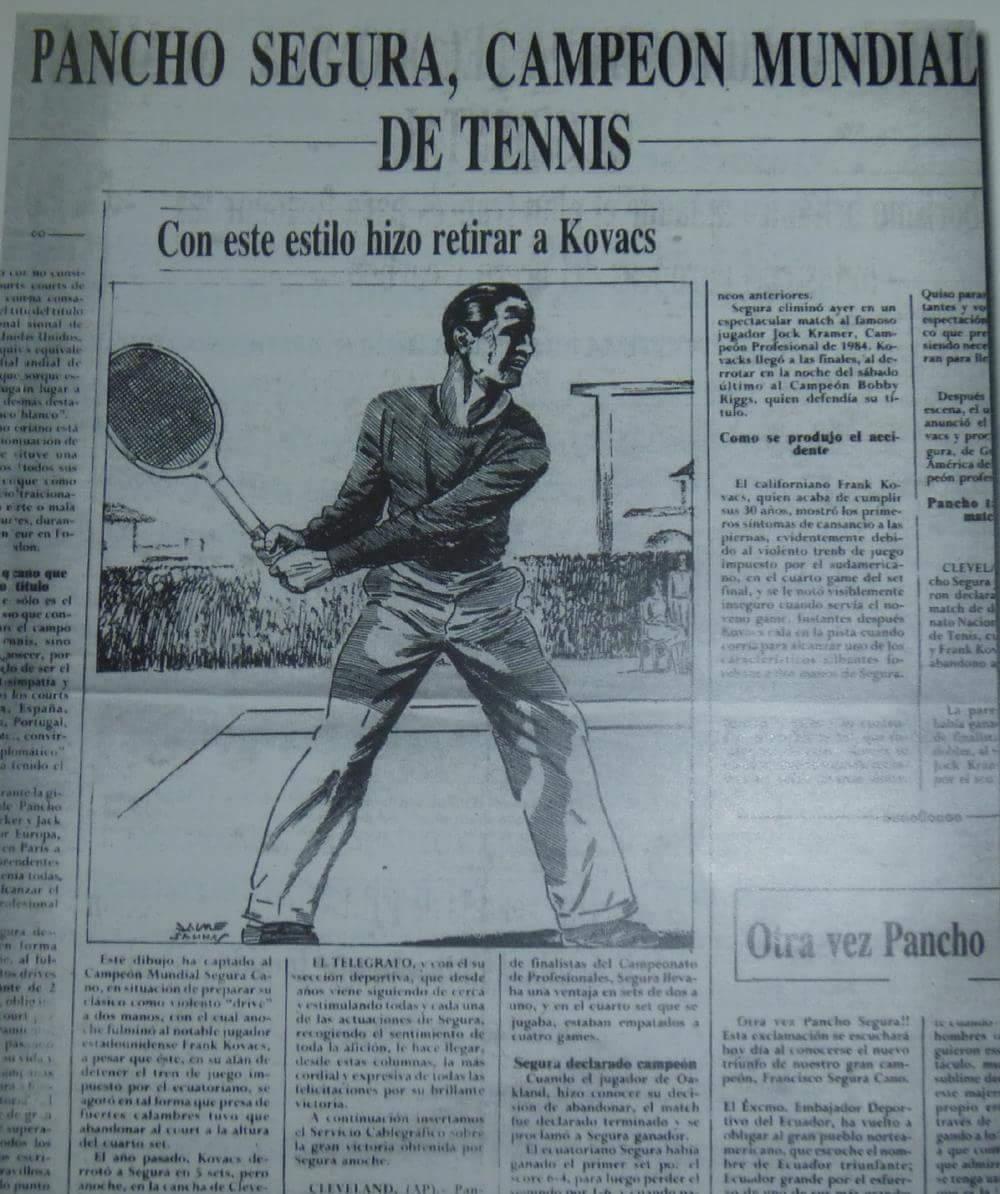 Feliz cumpleaños 96 #PanchoSegura leyenda del tenis ecuatoriano y mundial. Campeón mundial (USpro Champ 1950-51-52) https://t.co/hSHIxuFcXx