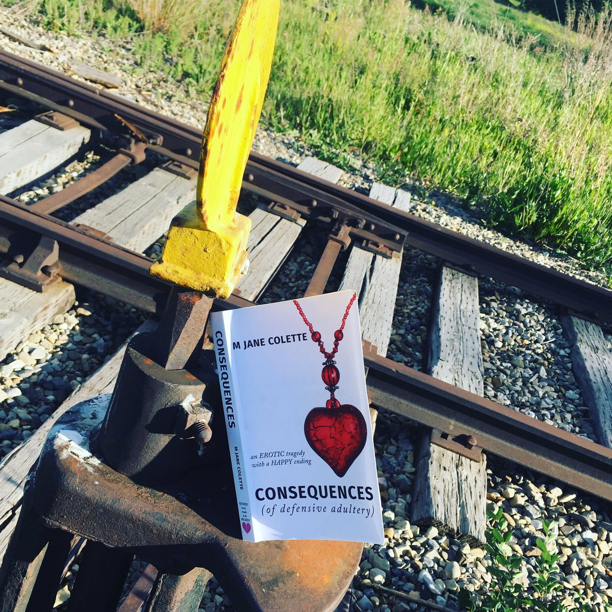 She gets around. :) #booktour #traintrack #bookcover #bookpic <br>http://pic.twitter.com/GuVk8L8KIk