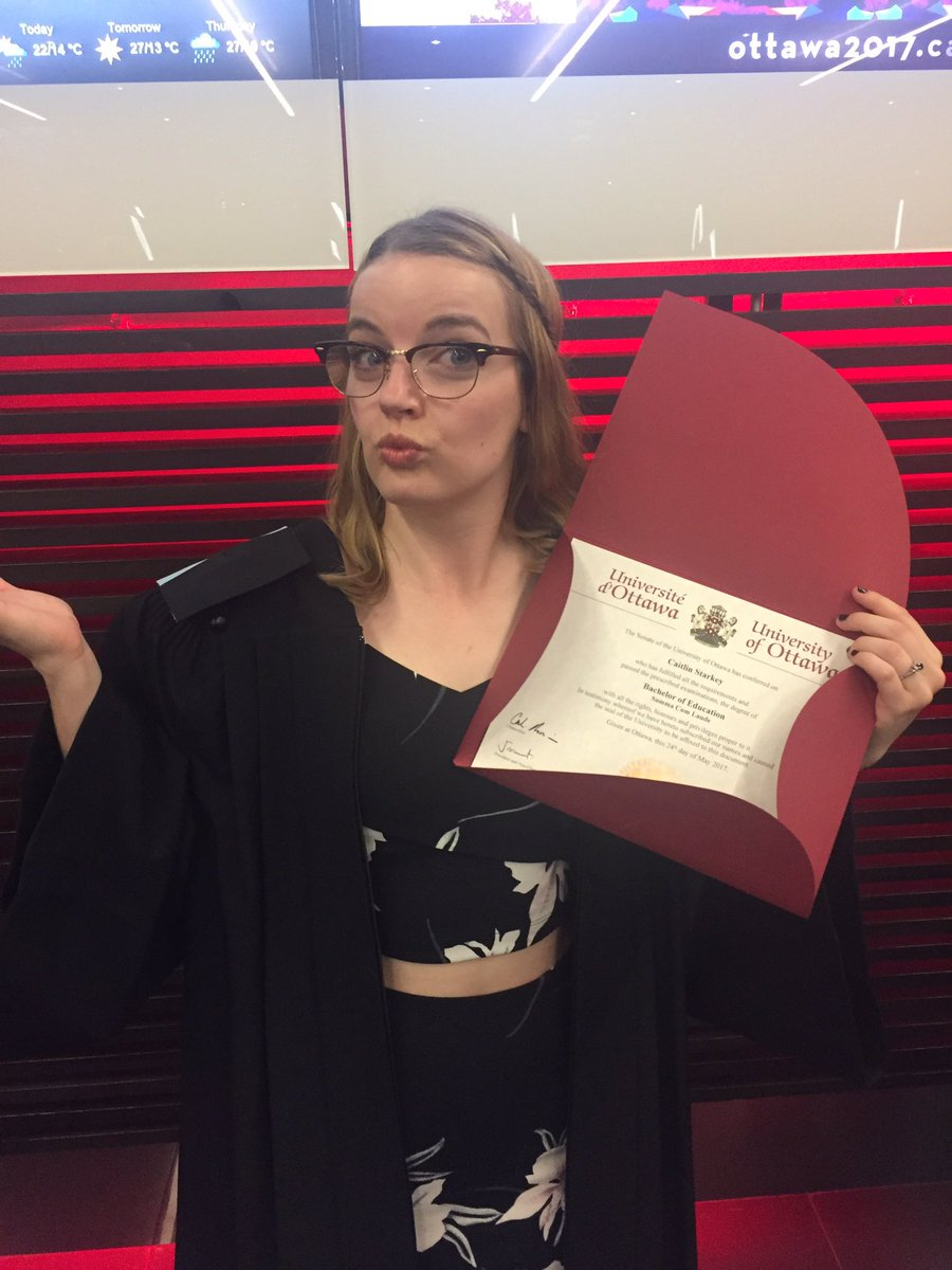 It's official! Diploma in hand, I'm ready to teach 🍎🎓 #uograd https://...