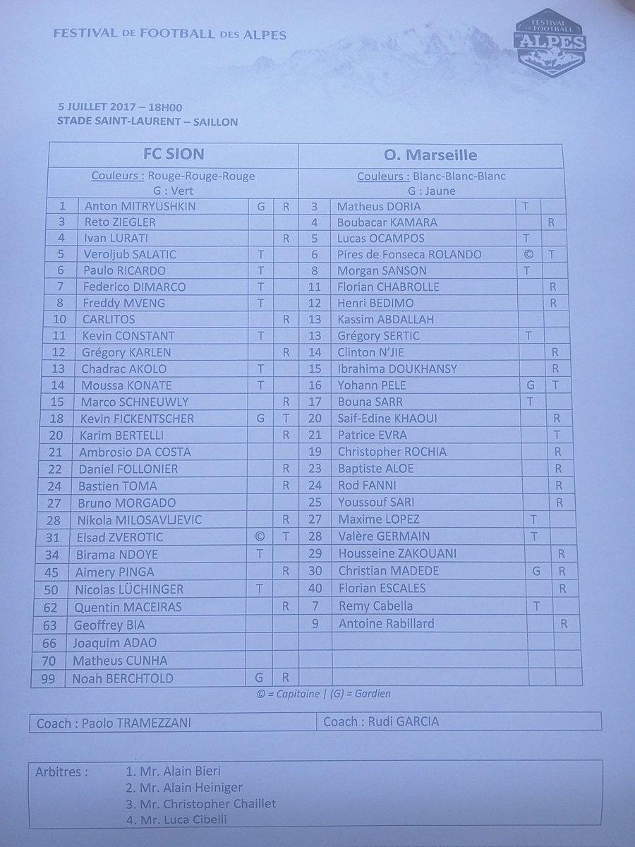 [Saison 2017-2018] les matchs amicaux de l'OM   DD-110gXcAAJ6g6