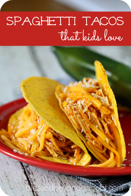 Kid-Friendly Spaghetti Tacos| So easy!