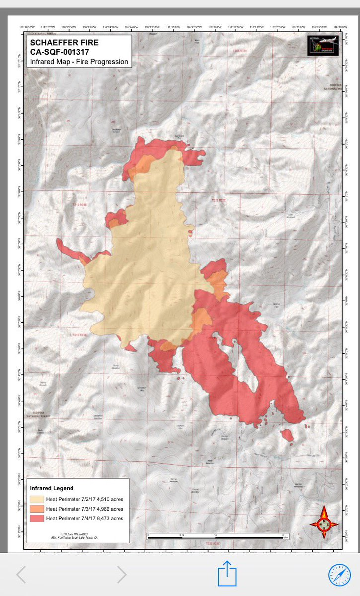 California S Largest Current Wildfire Has Grown To More Than 16 5 Square Miles In The Rugged Southern Sierra Nevada The U S Forest Service Says The Blaze