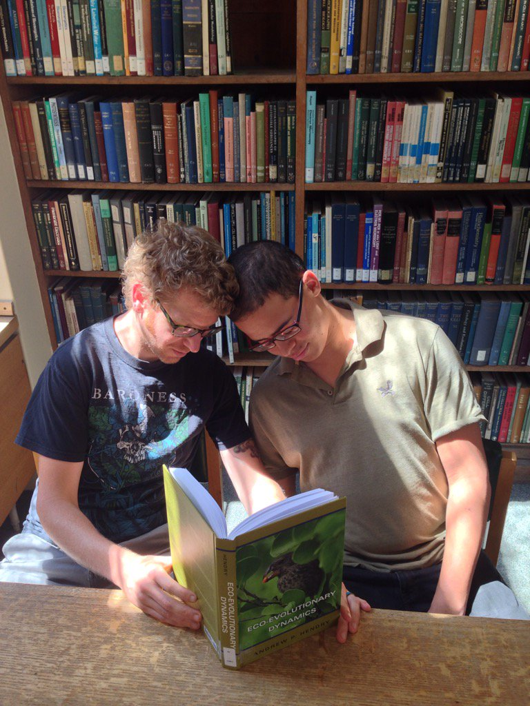 In hallowed libraries of Cambridge @DarrenRebar + @Gabriel_A_Jamie #peoplewhofellasleepreadingmybook @EcoEvoEvoEco https://t.co/ToJ68MA7aI