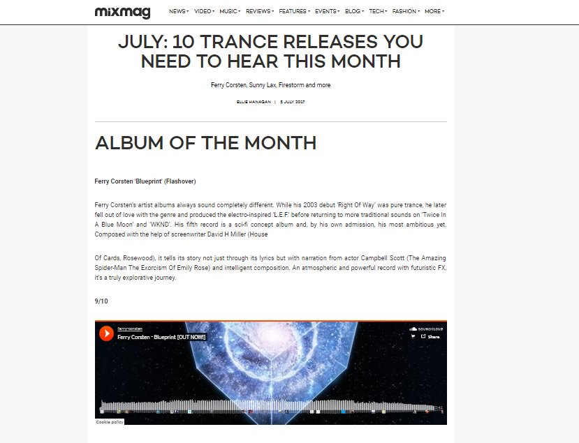 Urban rebel pr on twitter shouts to mixmag for honouring urban rebel pr on twitter shouts to mixmag for honouring ferrycorstens blueprint with trance album of the month malvernweather Choice Image