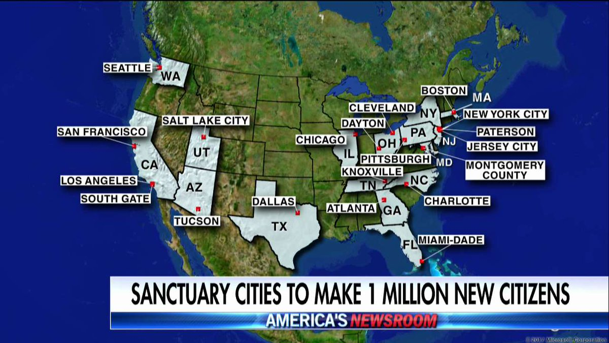 Fox News On Twitter Twenty One Mostly Sanctuary Cities Are - Map-of-us-sanctuary-cities