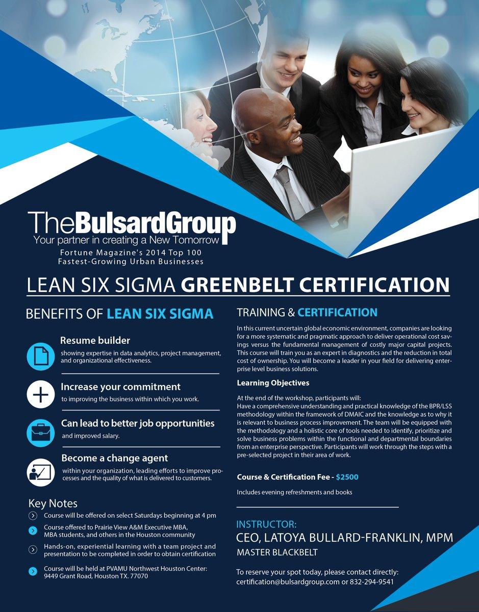 Latoya Franklin On Twitter Six Sigma Green Belt Certification Fall