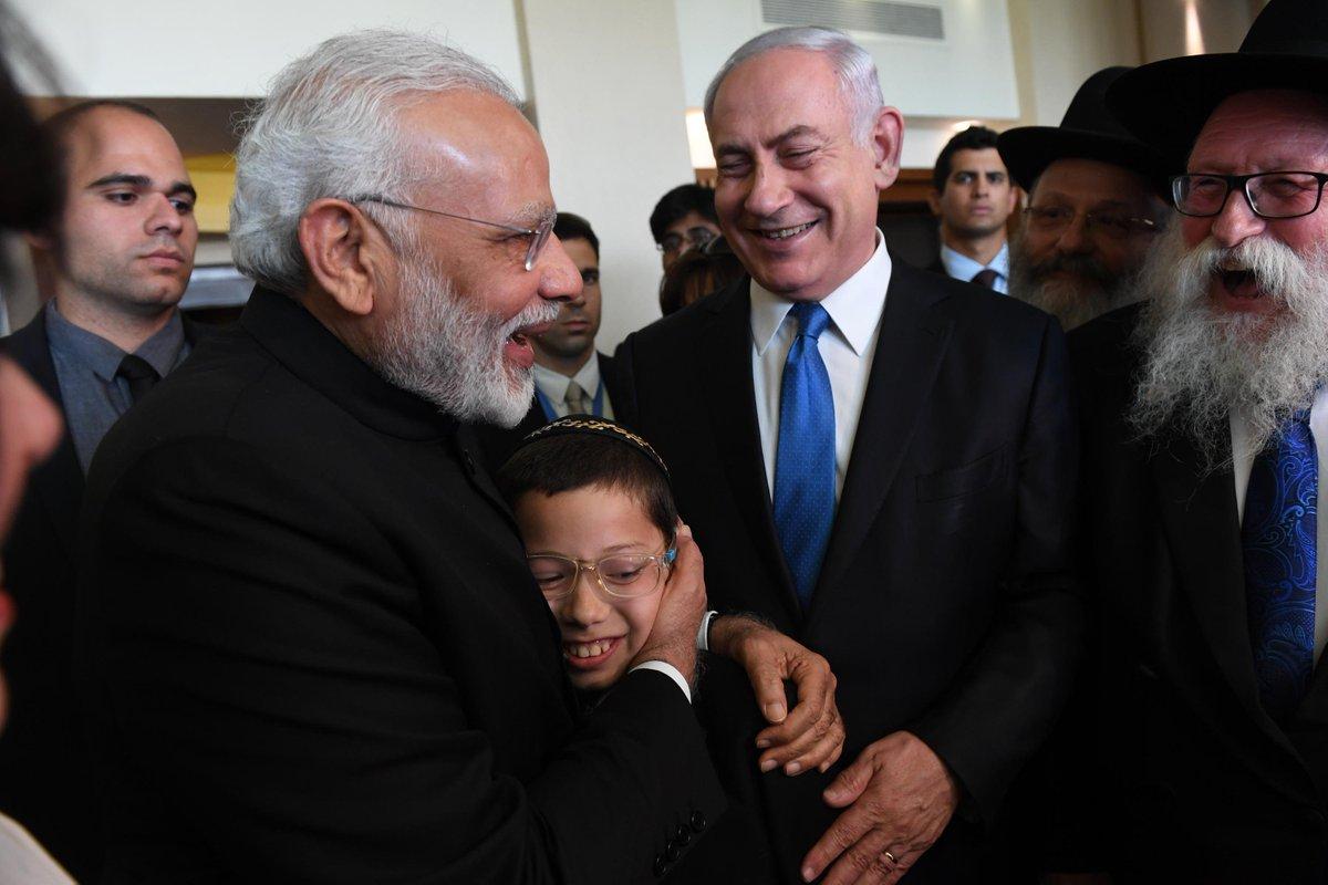 'Dear Mr Modi, I love you': Mumbai terror attack child survivor Moshe meets PM Modi in Israel