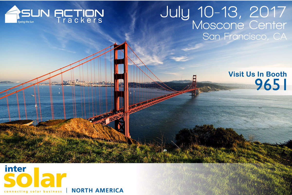 sun action trackers on twitter only 5 days until intersolar in sf