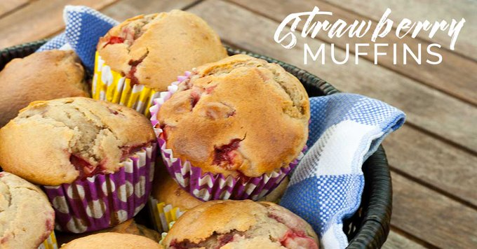 Homemade Easy Strawberry Muffin Recipe