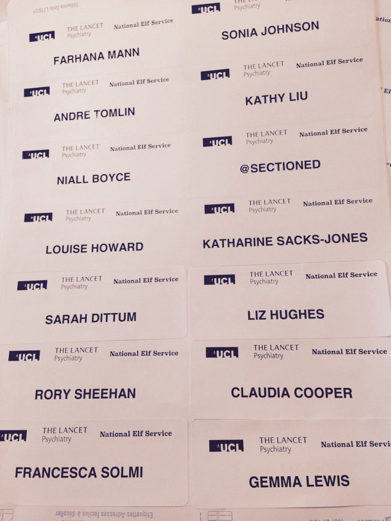 Labels ready for tonight's #MHQT ! No jokes about psychiatrists and labels please...not funny. https://t.co/kWvfNN1ig4