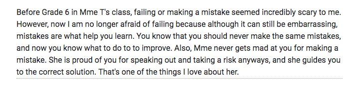 """The power of #failing #studentvoice  End of year reflections.  Wow! """"I am no longer afraid of failing..."""" #growthmindset https://t.co/Venr9B8PFs"""