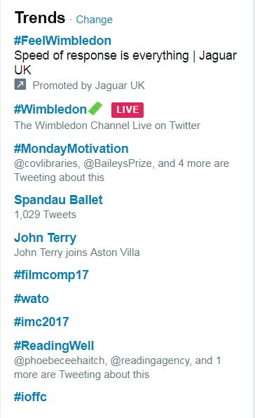 We're trending! #ReadingWell #HIW2017 https://t.co/pEwL12y0CP