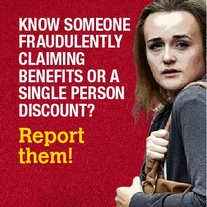 Telford Wrekin Council On Twitter Think You Know A Benefit Cheat Report Them Benefit Fraud Is A Crime You Re Paying For It Https T Co Cyh6hoj2sc