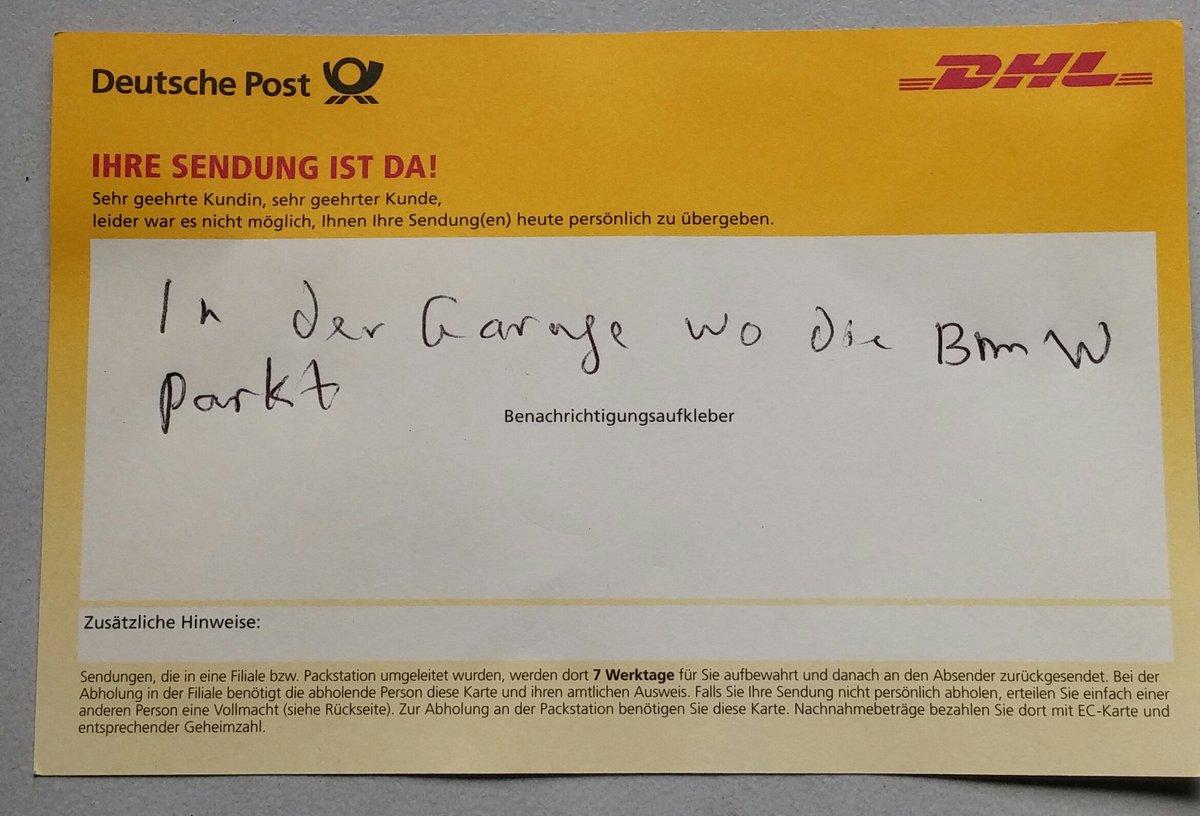 Dhl Paket On Twitter Sind Bmw Und Paket Da