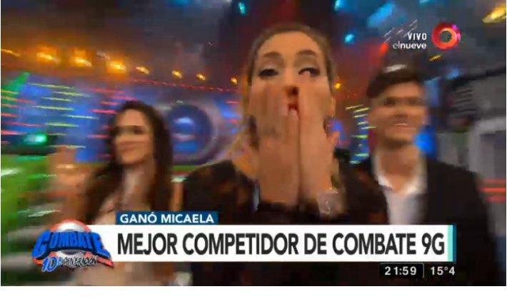La emocion de Mica Viciconte al consagrarse campeona de Combate https://t.co/Rn3CV3yG4D https://t.co/cHGqiZ4jA7