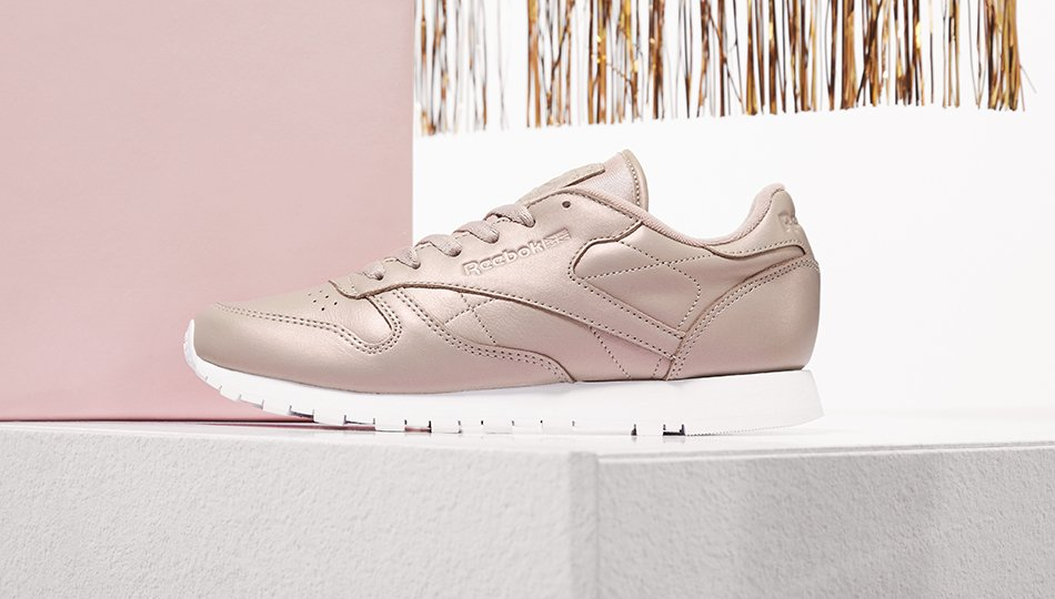 8fa044a2ea8 stay pretty in pink with the reebok classics in pearlised leather was 6500  now 4500