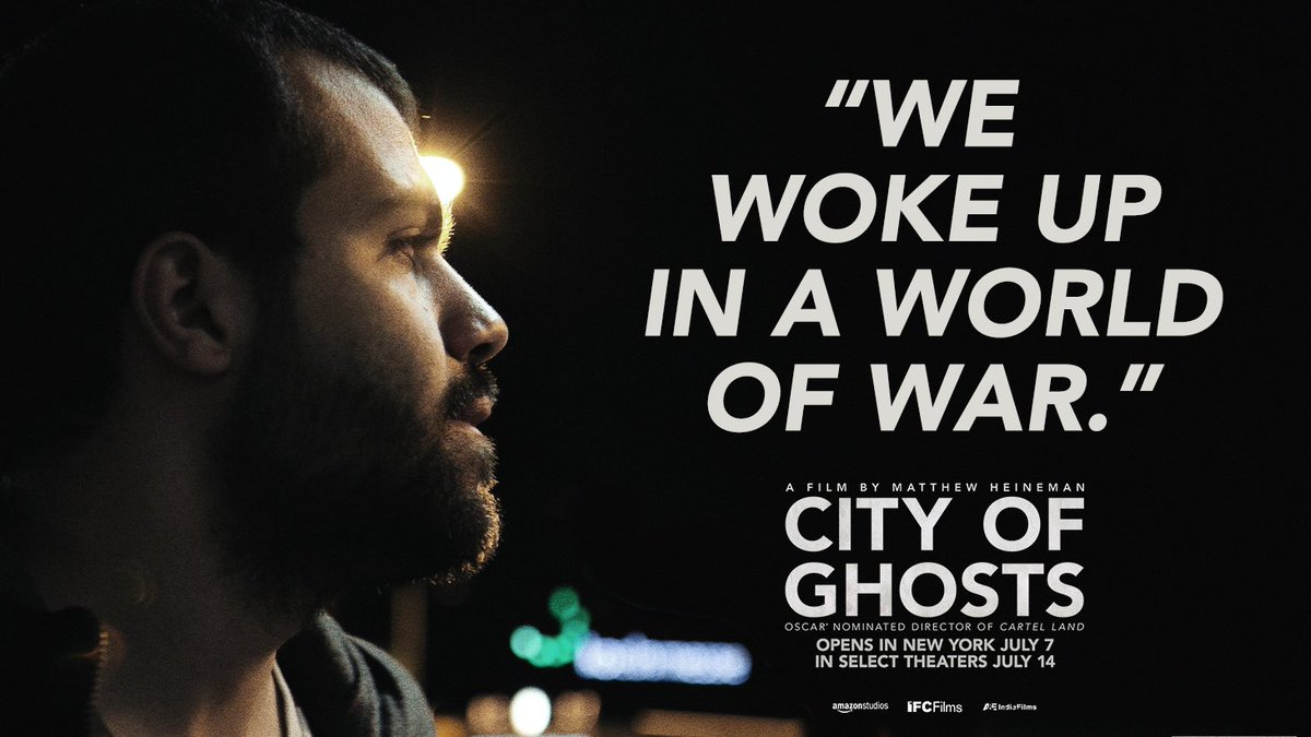 #CityofGhosts opens THIS FRIDAY in NYC and select theaters July 14. TICKETS: http://tickets.cityofghosts.com