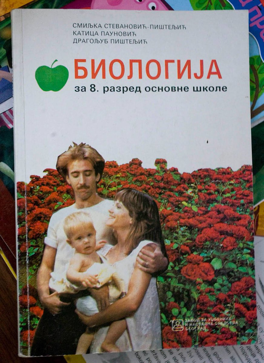 In 1998, Nicolas Cage & Holly Hunter were on the cover of an 8th grade Serbian biology textbook. https://t.co/0astrJp4uk