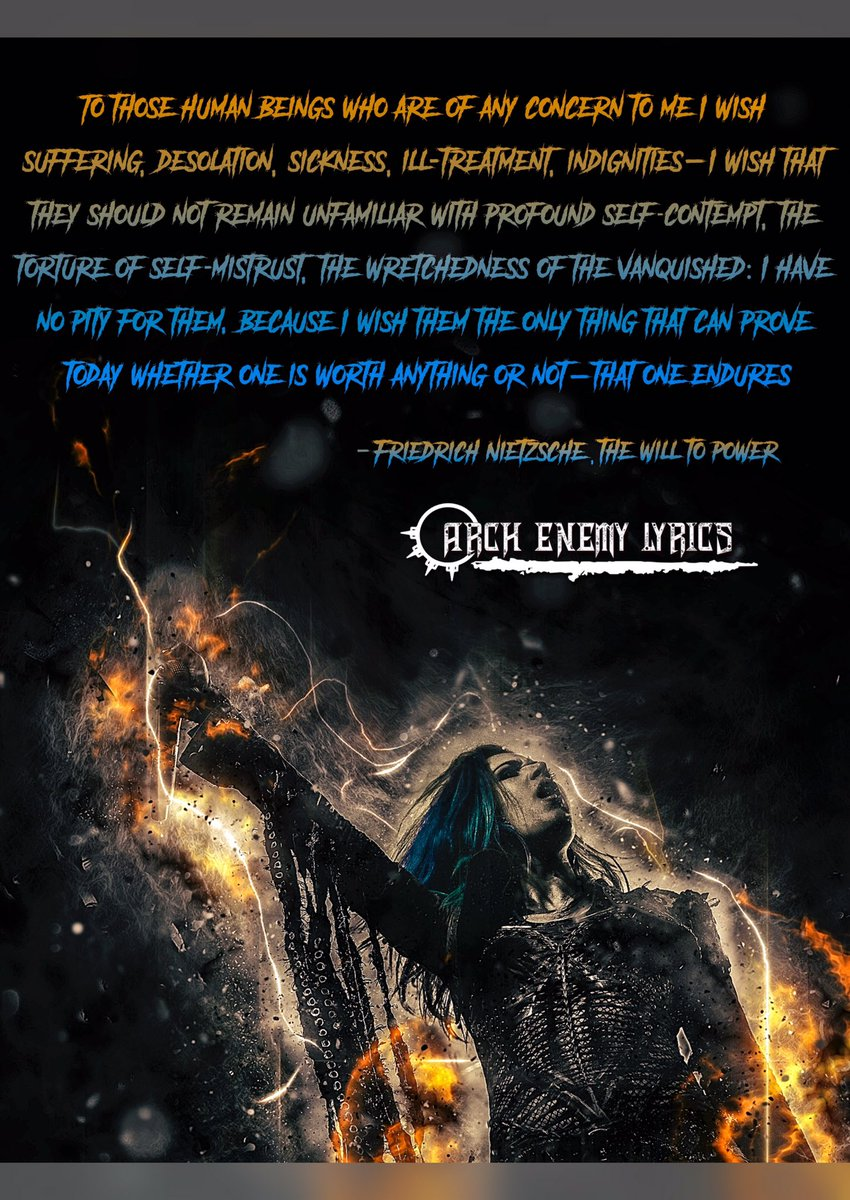 Arch Enemy Lyrics On Twitter Will To Power September 8th 2017