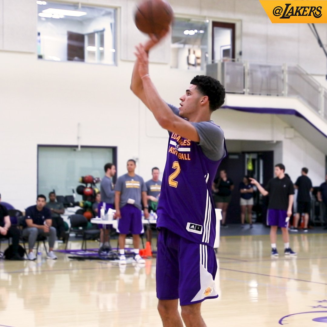 Good start for the 2017 #LakeShow draft class today! #LakersSummer