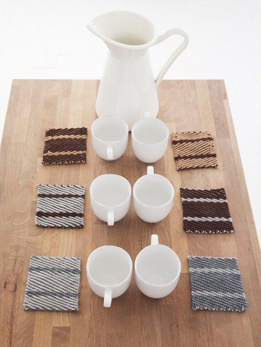 Twill Weave Coasters (Loom/Weave)