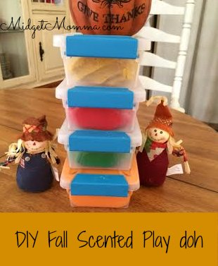 DIY Fall Scented Play doh