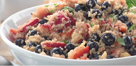 4th of July Red, White & Blue Quinoa Salad