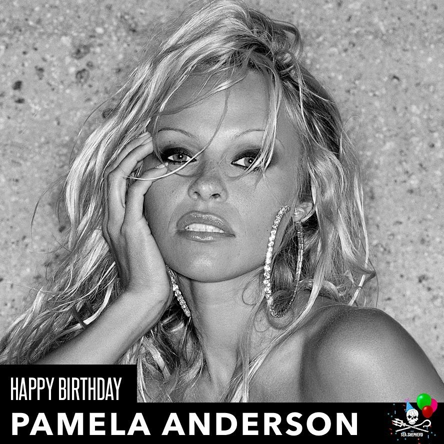 """Happy belated birthday to \""""Pamela Anderson\"""" we cant forget about our fabulous pinup models/ stars:)"""