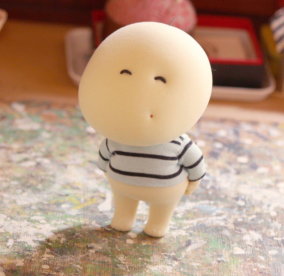 顔がまだ納得いっていませんが、アイコンにもなっているもんもをお人形にしてみました。 https://t.co/vlGhmzEpkE