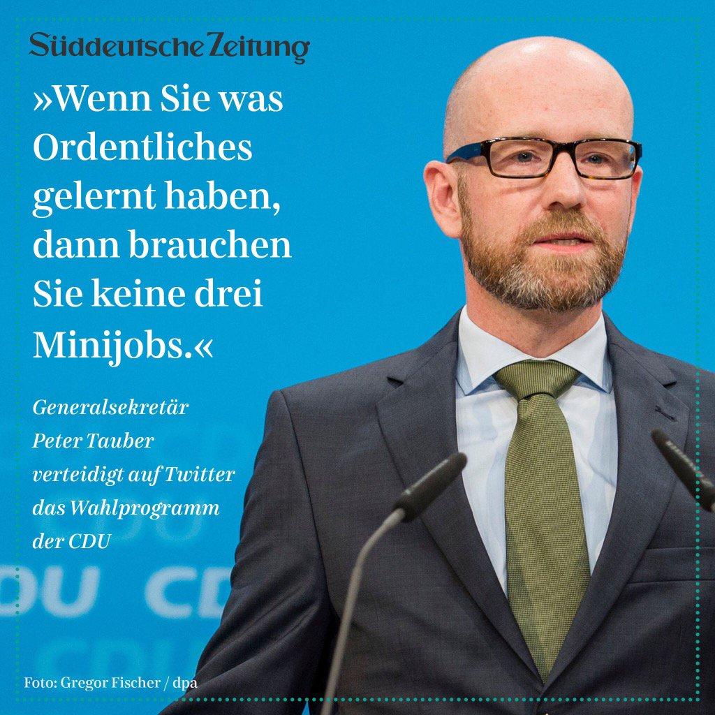 Und wer keinen Anstand gelernt hat, wird CDU-Generalsekretär.