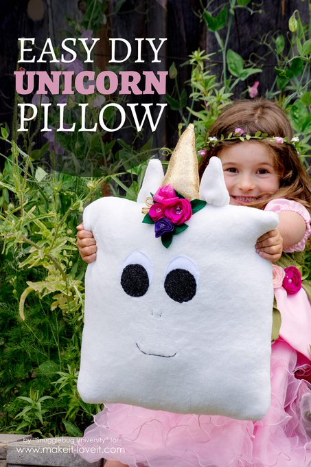 Easy DIY Unicorn Pillow